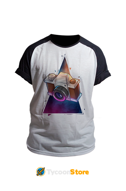 Camiseta Manga Preta - Câmera