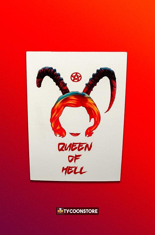 Placa Decorativa - Queen of Hell (O Mundo Sombrio de Sabrina) Série