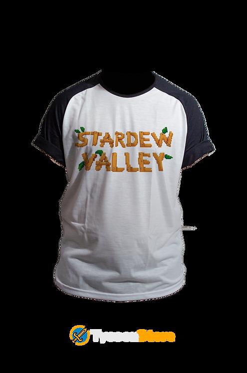 Camiseta Manga Preta - Stardew Valley