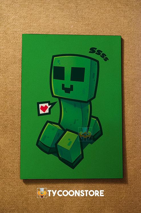 Placa Decorativa - Creeper Minecraft