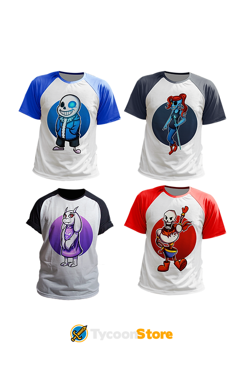 KIT - Camisetas Undertale