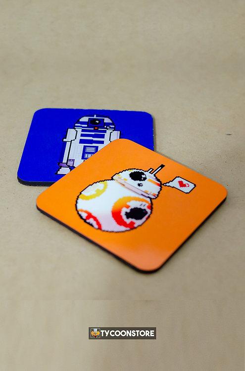 Porta Copos - Star Wars (R2D2 e BB-8)
