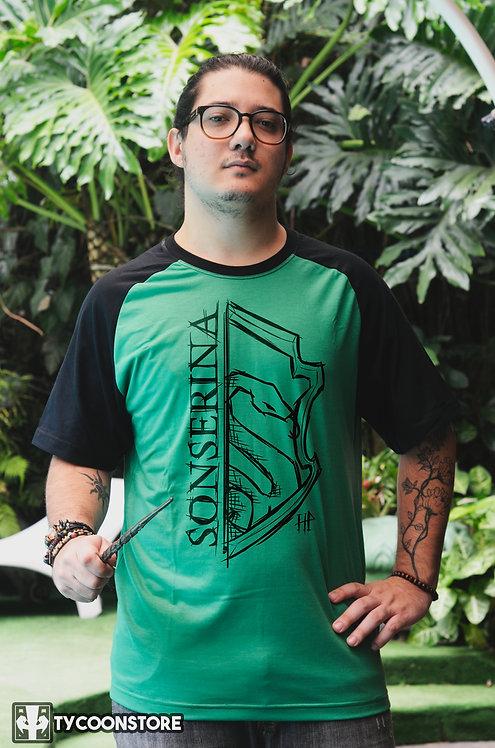 Camiseta Verde - Sonserina Slytherin [V2]