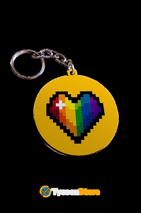 Chaveiro MDF - Pixel LGBT