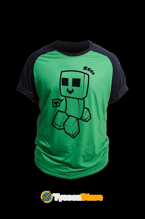 Camiseta Colorida - Creeper Minecraft