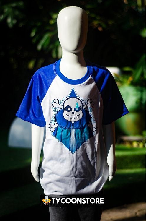 Camiseta Infantil Manga Azul - Sans V2