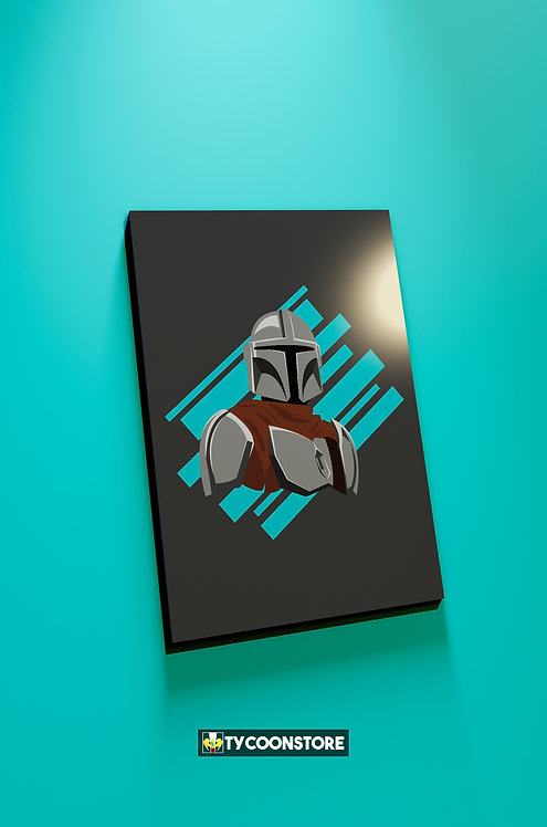 Placa Decorativa - The Mandalorian (Série)