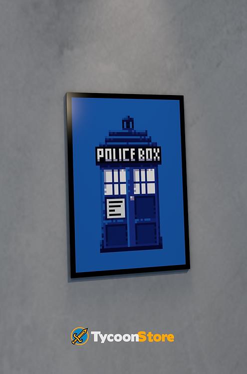 Placa Decorativa - Doctor Who Tardis
