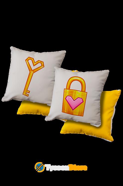 KIT Almofada Amarela - Cadeado Namorados