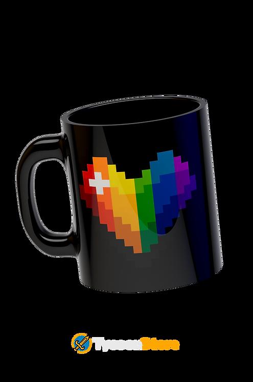 Caneca - LGBT Pixel Art Coração