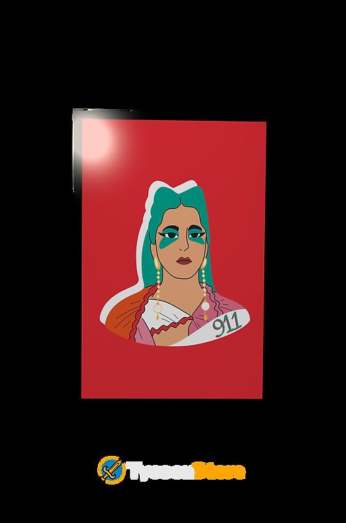 Placa Decorativa - 911 (Clipe Lady Gaga)