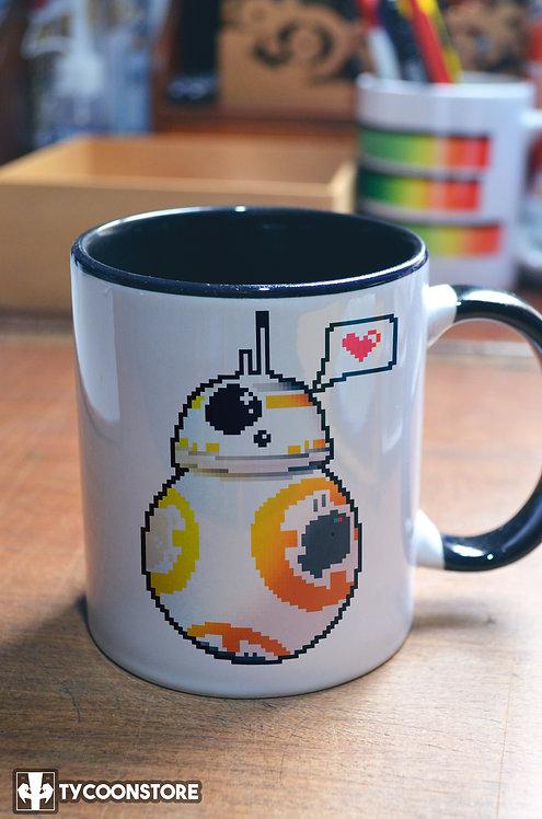 Caneca - Droid Love Pixel Art