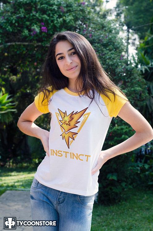 Camiseta Manga Colorida - Team Instinct