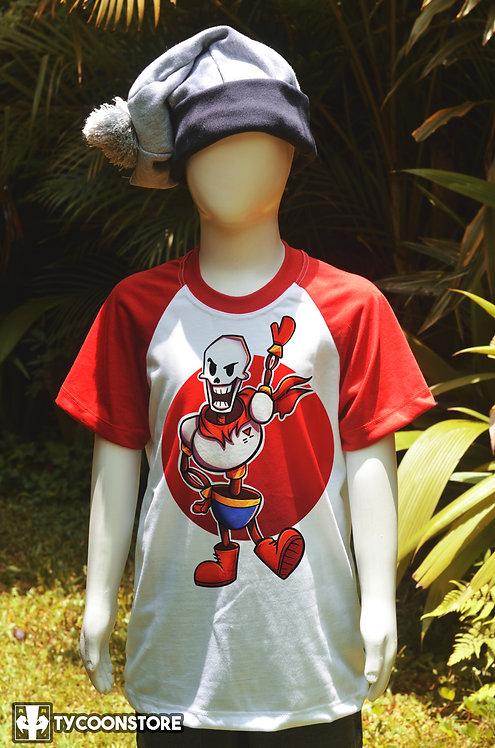 Camiseta Infantil Manga Vermelha - Papyrus