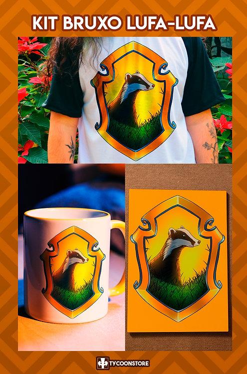 KIT - Bruxo Lufa-Lufa (Camiseta, Caneca, Quadro)