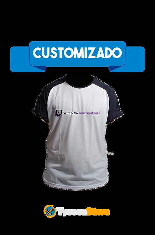 Camiseta Raglan - Link seu canal Twitch