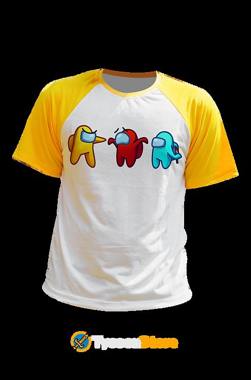 Camiseta Manga Amarela - Among Us