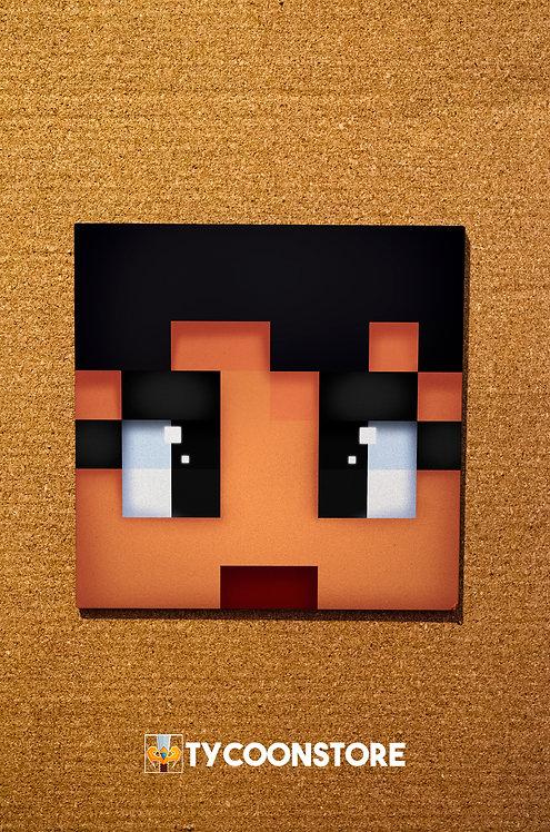 Rosto Skin Minecraft (Quadro Decorativo) PERSONALIZADO