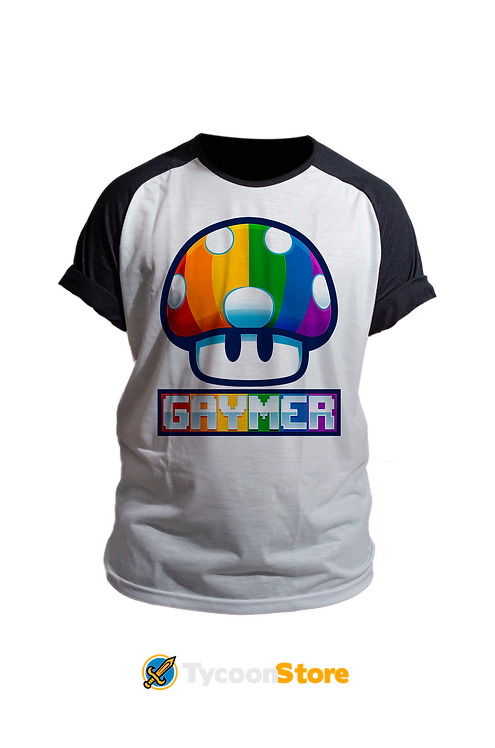 Camiseta Manga Preta - Gaymer