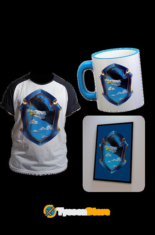 KIT - Bruxo Corvinal (Camiseta, Caneca e Quadro)