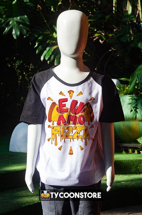 Camiseta Infantil - Eu Amo Pizza