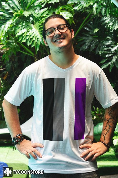 Camiseta - Bandeira Assexual