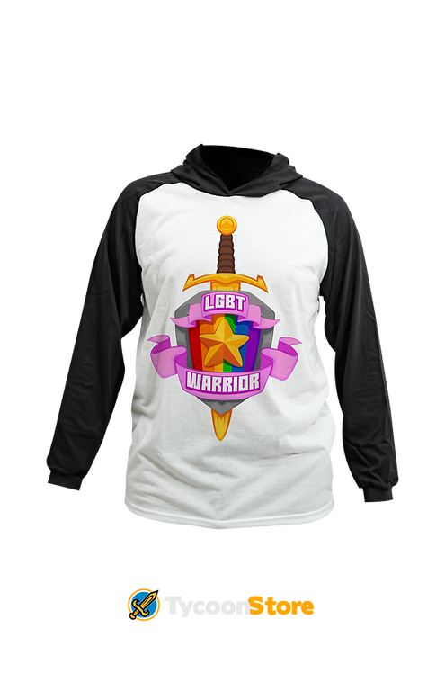 Camiseta Capuz - LGBT Warrior (LGBT Gamer Nerd Geek)