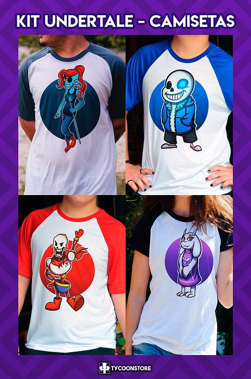 KIT - Camisetas Undertale