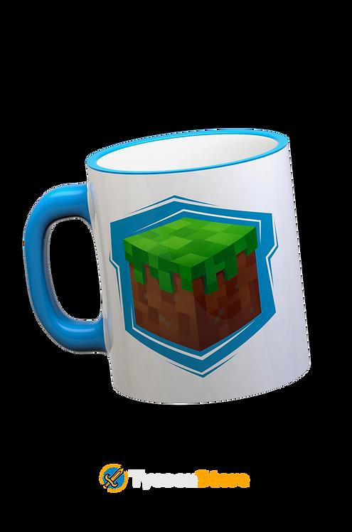 Caneca Azul - Minecraft