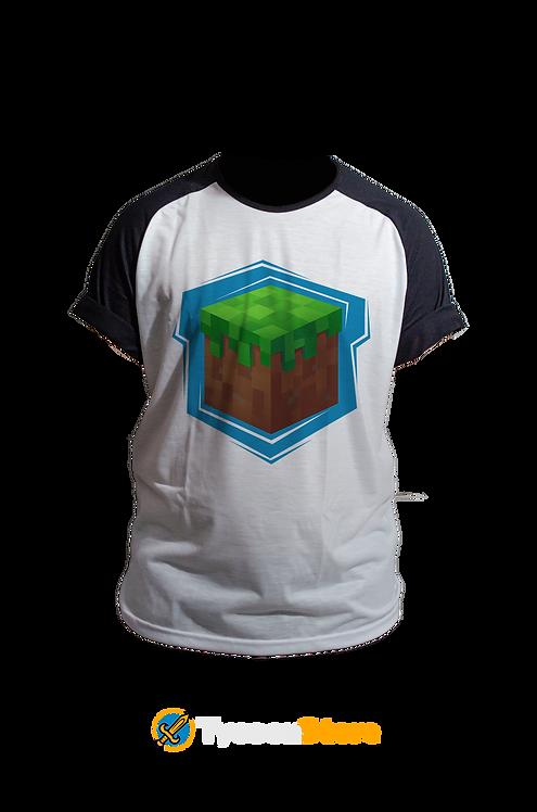 Camiseta Manga Preta - Minecraft