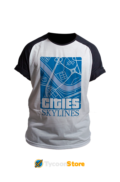 Camiseta Raglan - Cities Skylines