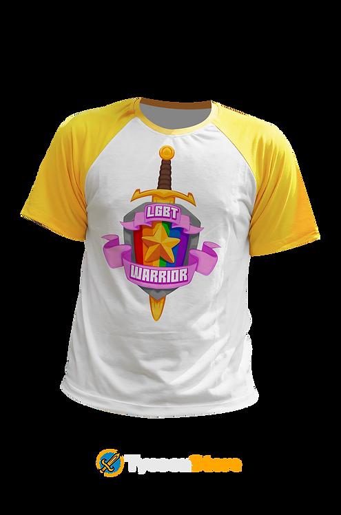 Camiseta Manga Amarela - LGBT Warrior (LGBT Gamer Nerd Geek)