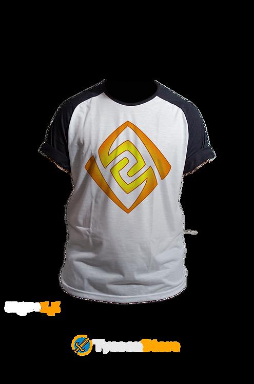 Camiseta Raglan - Geo (Genshin Impact)