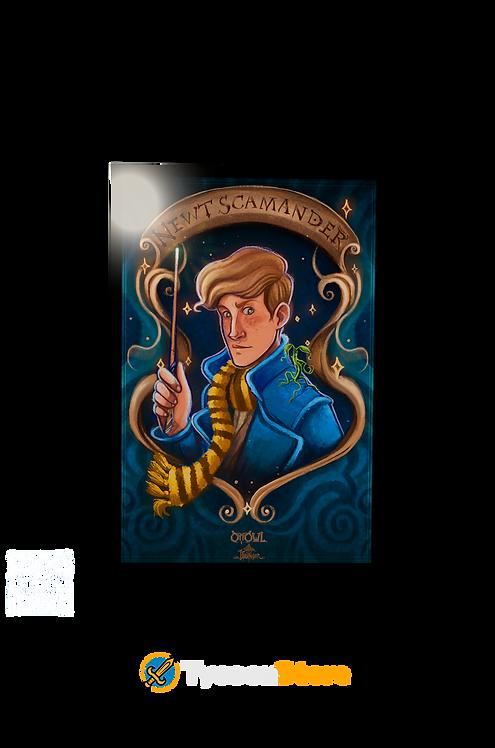 Placa Decorativa - Newt Scamander (Animais Fantásticos e Onde Habi
