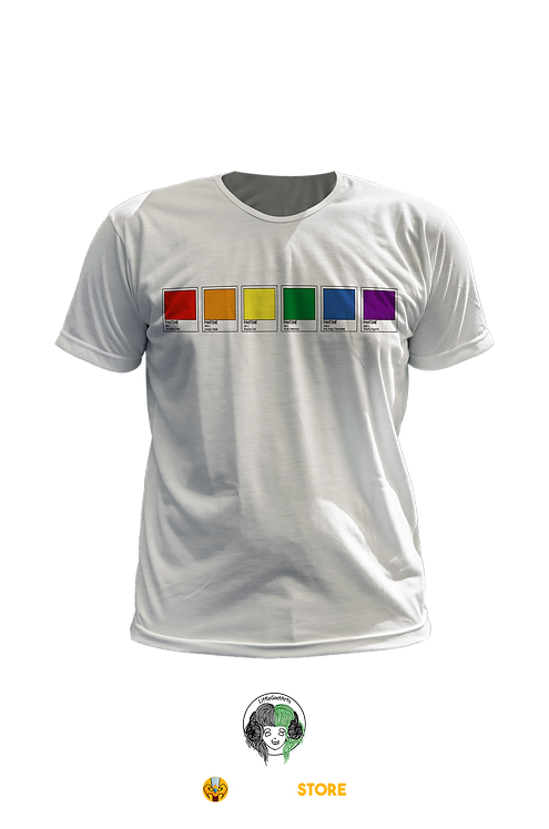 Camiseta - Bandeira LGBT Pantone