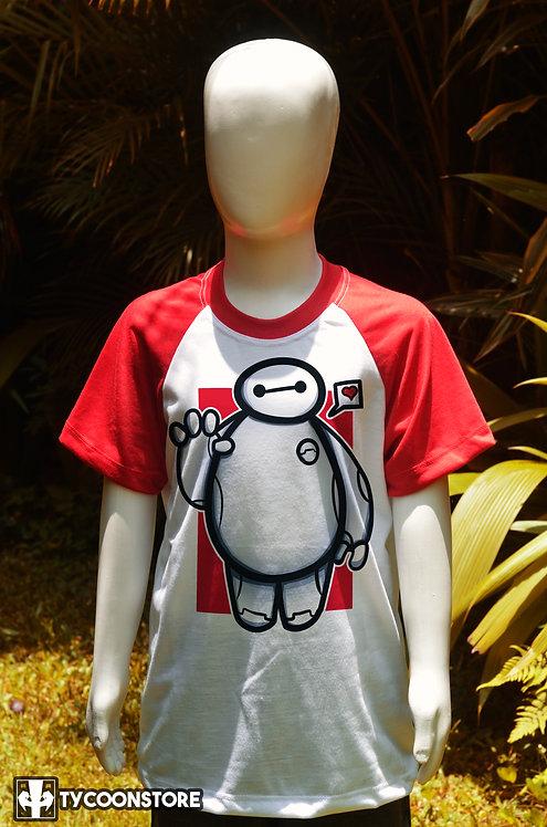 Camiseta Infantil Manga Vermelha - Baymax