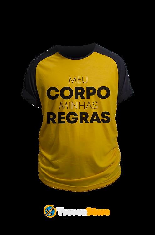 Camiseta Amarela - Meu Corpo Minhas Regras