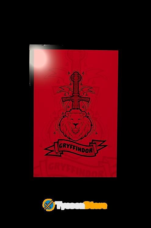 Placa Decorativa - Brasão Casa Grifinória Gryffindor V3