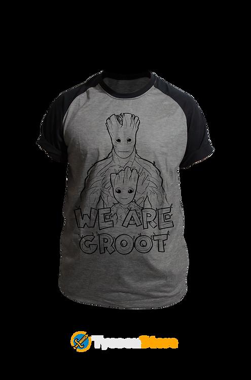 Camiseta Mescla - Nós Somos Groot (We Are Groot) Guardiões da Galáxia