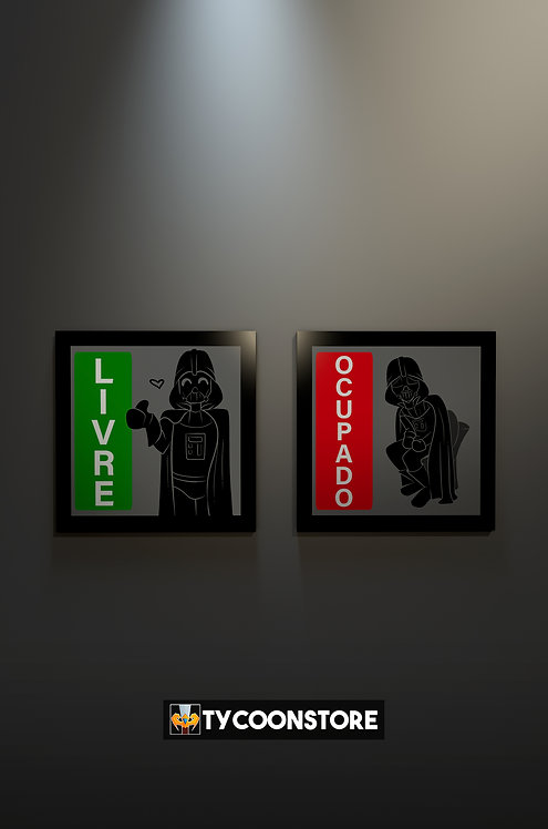 KIT Quadro Banheiro - Dath Vader (Star Wars)
