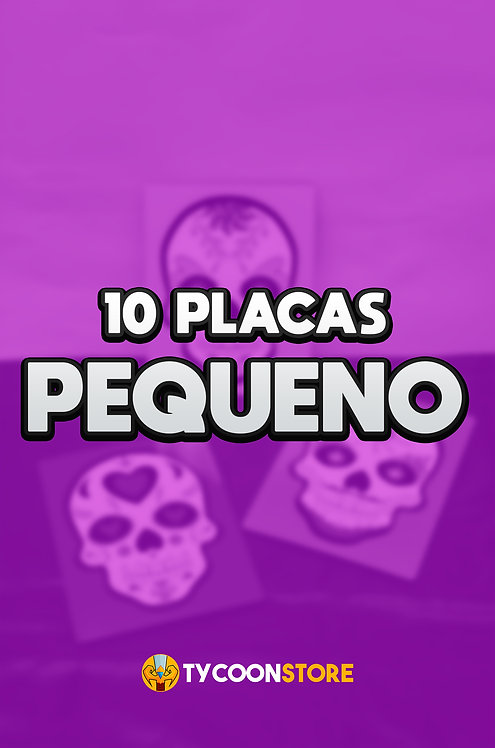 PACOTE - 10 Placas Decorativas PEQUENAS