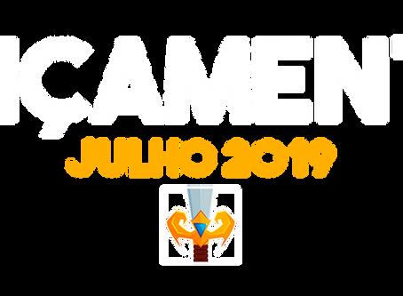 LANÇAMENTOS JULHO 2019