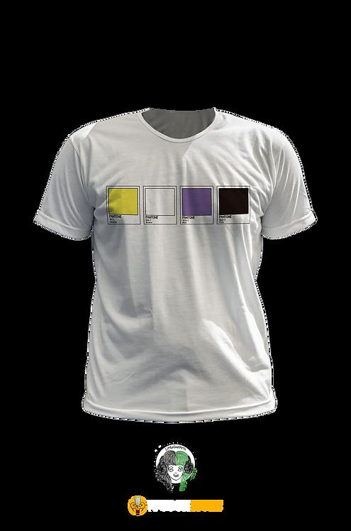 Camiseta - Bandeira Não Binare Pantone