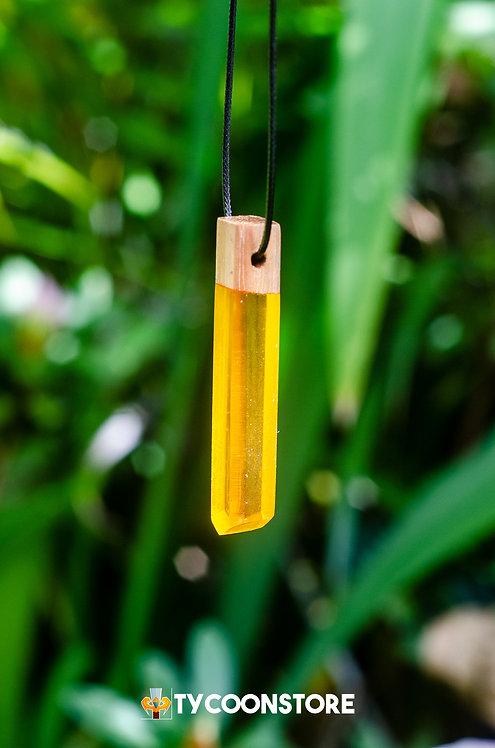 Colar - Madeira com Amarelo #28