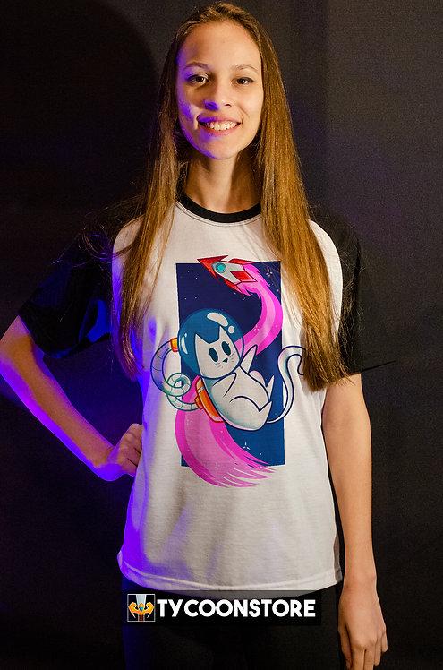 Camiseta - Gato Astronauta