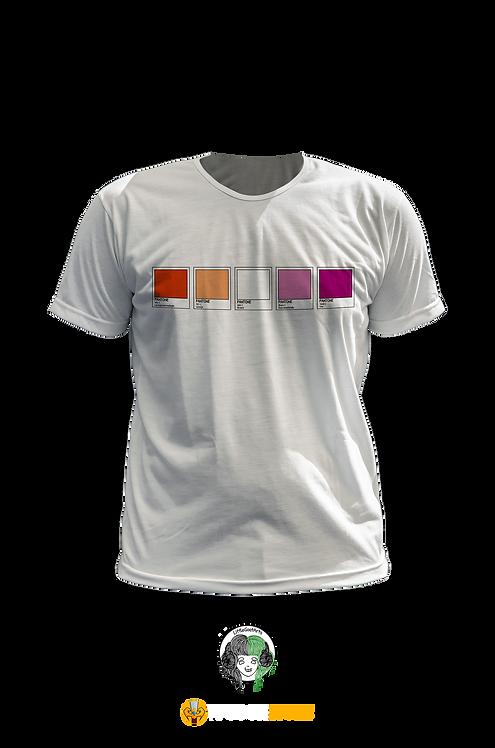 Camiseta - Bandeira Lésbica Pantone