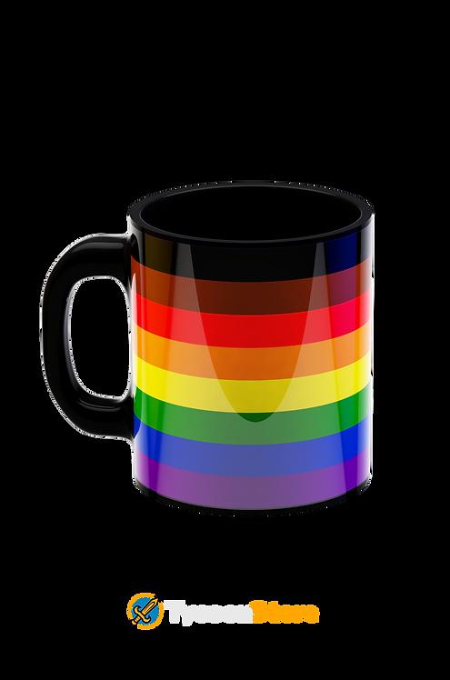 Caneca - LGBT Bandeira Negro