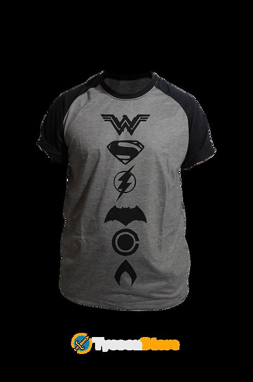 Camiseta Mescla - Liga da Justiça Símbolos