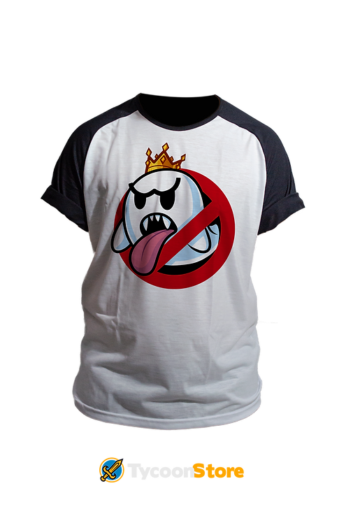 Camiseta - Caça-Boo (Os Caça Fantasmas + Mario Bros)