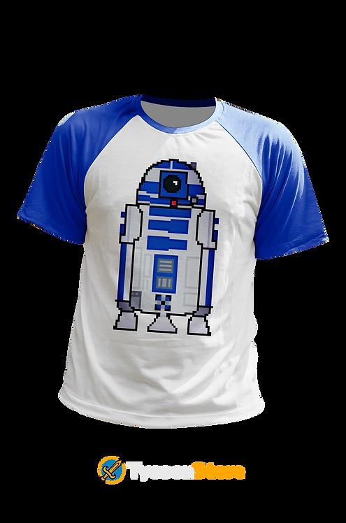 Camiseta Manga Colorida - R2D2 Star Wars